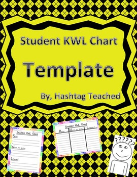 Differentiated Student KWL Chart Template