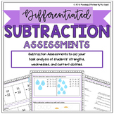Differentiated Subtraction Assessments (Pre, Post, and NWEA)