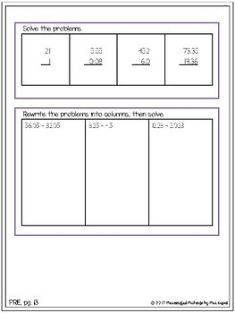 Differentiated Subtraction Assessments: Pre/Post Tests & Grouping Guides!