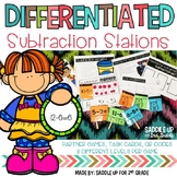 Differentiated Subtraction Math Stations