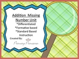 Differentiated Subtraction Missing Number Unit k-1