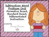 Differentiated Subtraction Missing Number Word Problem Unit