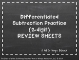 Differentiated Subtraction Practice (2-Digit) Review Sheets