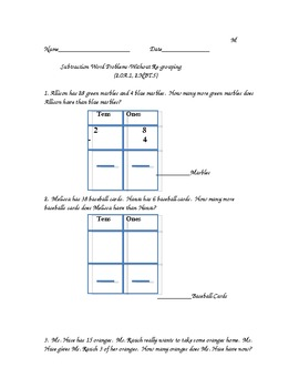 Differentiated Subtraction Word Problems Aligned to CCLS (2.NBT.5, 2.0A.2)