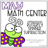 Differentiated Subtraction within 5 and 10 Spinner Kinderg
