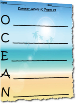 Differentiated Summer Acrostic Poem Activity Set