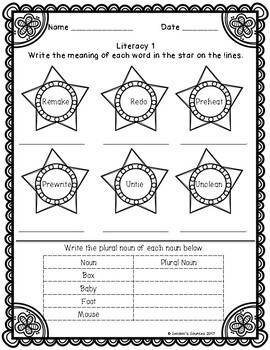 Differentiated Summer Packet SAMPLE