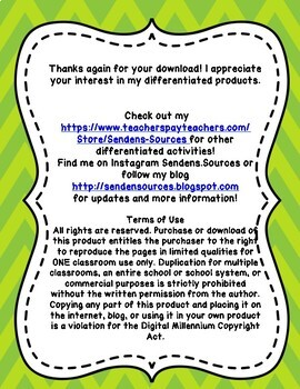 Differentiated Summer Packet Third Grade FREE PREVIEW