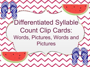 Differentiated Syllable Count Clip Cards