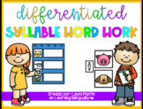 Differentiated Syllable Word Work in Spanish