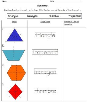 Differentiated Symmetry Worksheets (Grades 1-2)