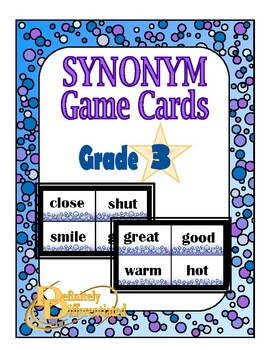 Differentiated Synonym Game Cards