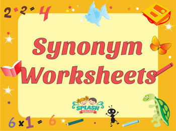 Synonym Differentiated Worksheets - Crosswords, Match, Scramble