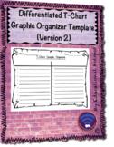 Differentiated T Chart Graphic Organizer Template (Horizon