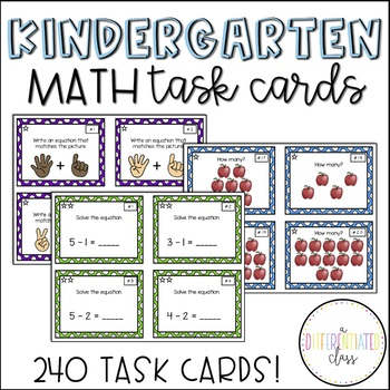 Differentiated Task Card Bundle for Before/After, Addition