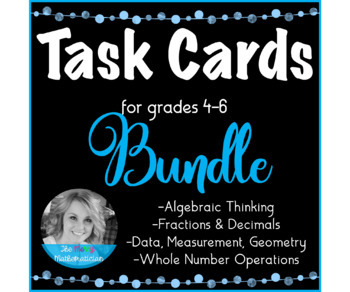 """Differentiated Task Card """"Forever"""" Bundle for 4th, 5th or 6th Grade Math"""