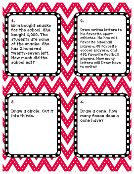 Differentiated Task Cards Review Four LEVELS!