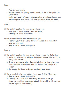 Differentiated Tasks for Publishing an Essay
