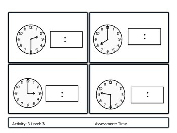 Differentiated Telling Time Unit