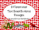 Differentiated Text Based Evidence Passages. Science Editi