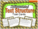 Differentiated Text Structure Task Cards (Nonfiction Text)