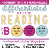 Differentiated Texts: Package B - Guided Reading Levels N-