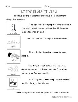 Differentiated Texts on The Five Pillars of Islam for Guided Reading