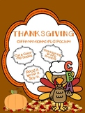 Differentiated Thanksgiving ELA Packet
