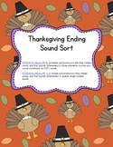 Differentiated Thanksgiving Ending Sound Sort (Common Core Aligned)