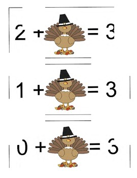 Differentiated Thanksgiving Math Centers to Help Build Fact Fluency