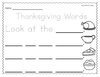 Differentiated Thanksgiving Writing Center