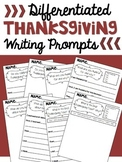 Differentiated Thanksgiving Writing Prompts