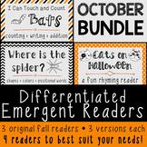 Differentiated Emergent Readers OCTOBER BUNDLE {Spiders, Bats & Halloween Cats}