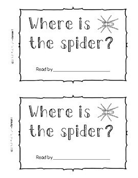 Differentiated Emergent Readers - Where is the Spider?
