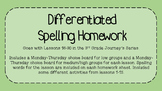 Differentiated Third Grade Journey's Spelling Homework Lessons 16-30