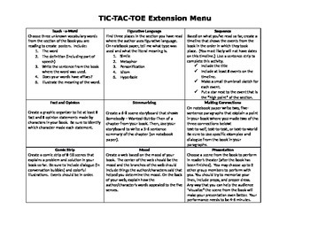 Differentiated Tic-Tac-Toe Choice Board