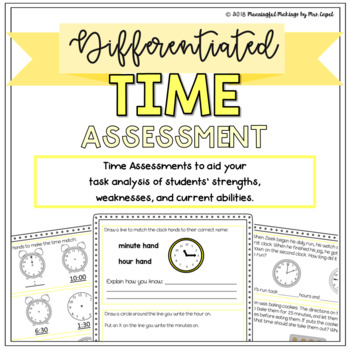 Differentiated Time Assessment: Pre-Test and Scoring/Grouping Guides!