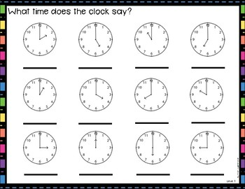 Differentiated Time Work Mats