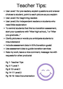 Differentiated High School Graduation IEP Transition Assessment