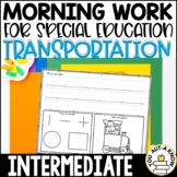 Intermediate Special Education Morning Work: Transportation Edition {3 Levels!}