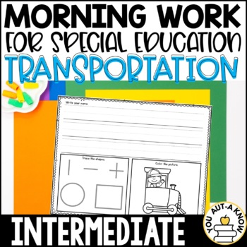 Intermediate Special Education Morning Work: Transportation Edition {3 Levels!}