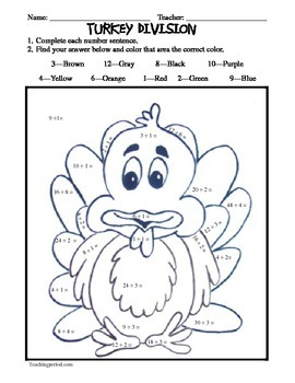 Differentiated Turkey Math!
