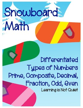 Differentiated Types of Numbers 5th/6th gr (Prime/Composite, Integer, Odd/Even)