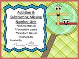 Differentiated Unit Addition and Subtraction with Missing Number k-1