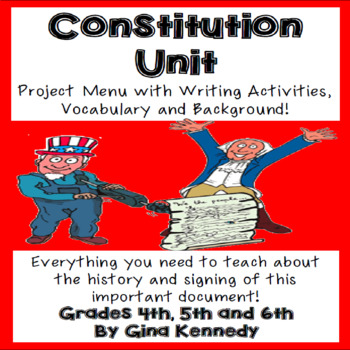 Constitution Projects, Lesson and Vocabulary