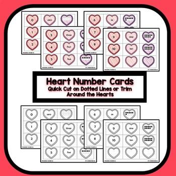 Differentiated Valentine Number Sense Math for Preschool & Kindergarten