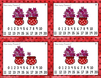 Differentiated Valentine's Counting Task Cards {4 Levels}