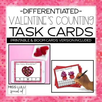 Valentine's Counting Task Cards