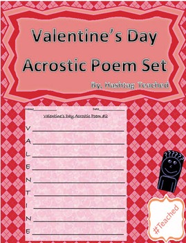 Differentiated Valentine's Day Acrostic Poem Activity Set