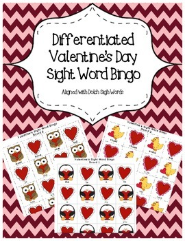 Differentiated Valentine's Day Bingo